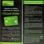 use Ci Banco cash dollar info