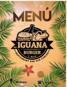 Mr Iguana menu