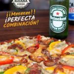 Mr. Iguana pizza beer