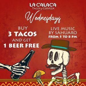 Calaca Wednesday taco special